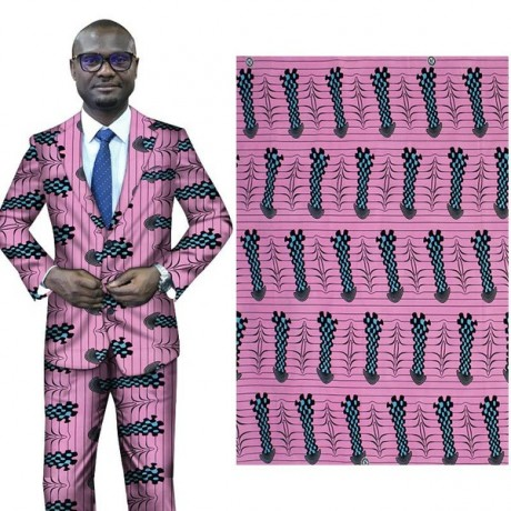 6 Yards 100% Grinding Double-sided Printing of African Nationality All-Polyester Printed Clothing Fabric