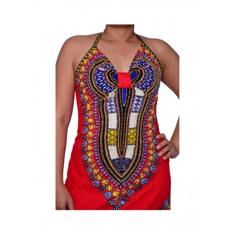 African clothing dress sexy ethnic style totem high stretch printed bag hip belt dress