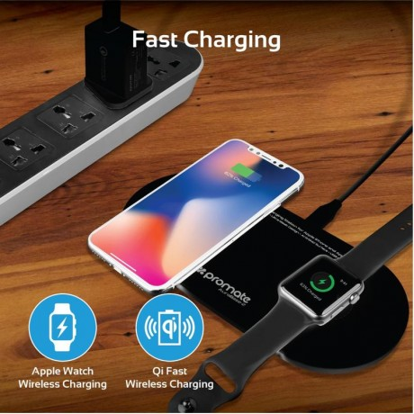 AuraBase-2 Dual Fast Wireless charging station for Apple iPhone and Apple Watch