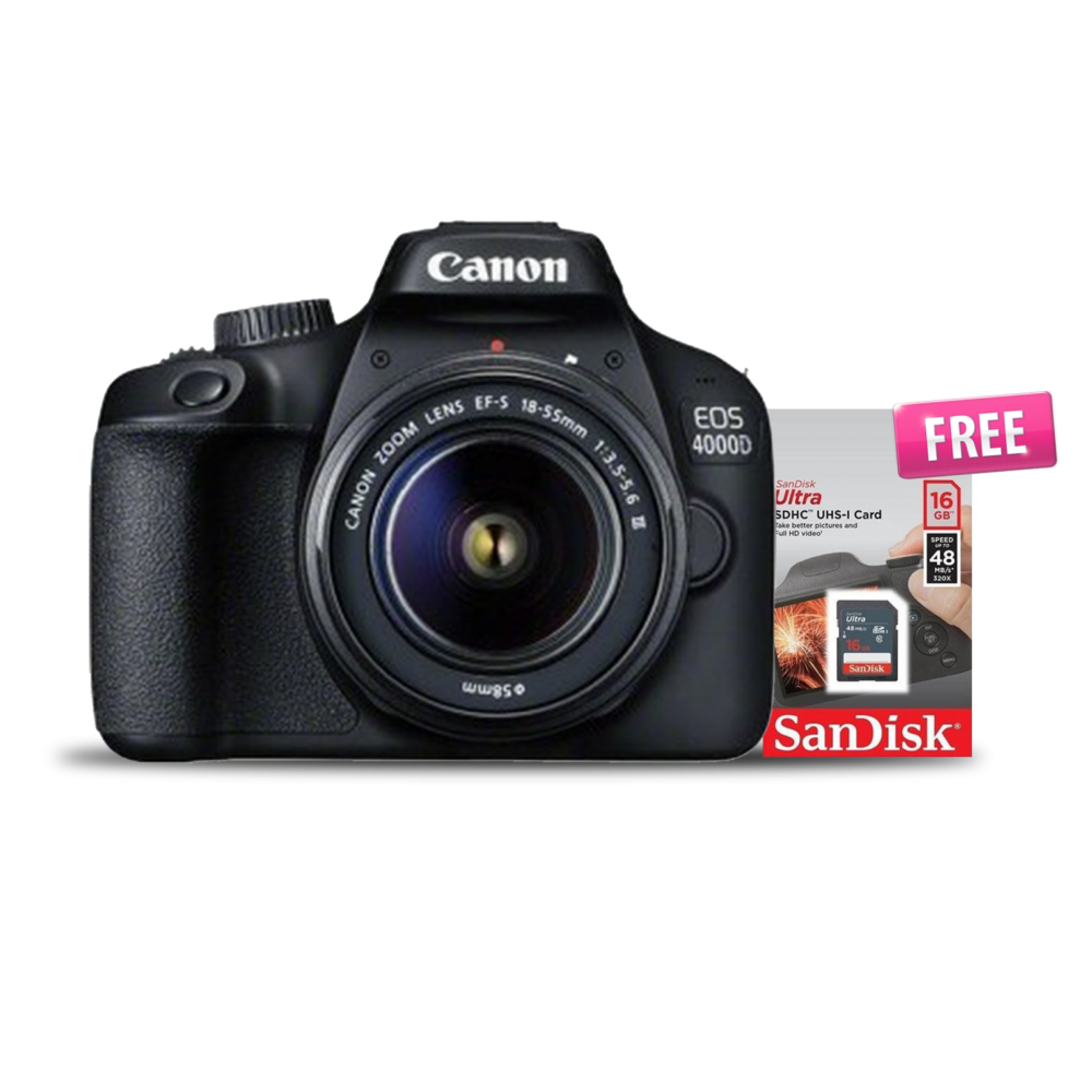 CANON EOS 4000D – WIFI/18.0 MP/3.0 SCREEN + LENS 18-55