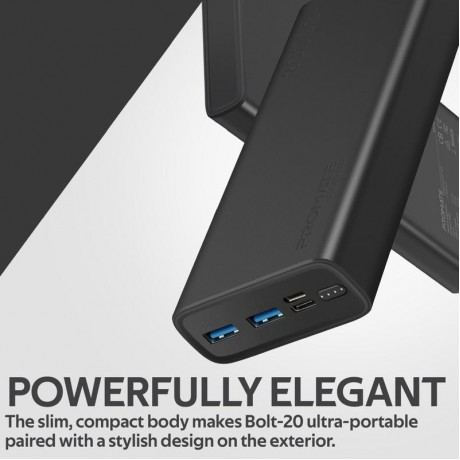 Bolt-20 | Compact Smart Charging Power Bank with Dual USB Output