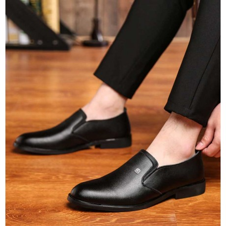 2017 Leather Business Shoes Men Formal Office Shoes Mens Flats Comfortable Black Work Business Shoes Men Loafers