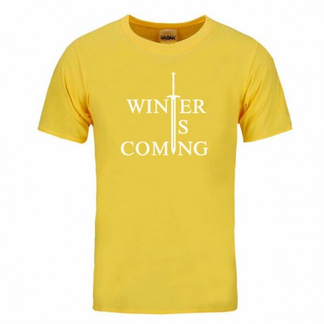 Winter is Coming Print T-Shirts of movie Game of Thrones Cotton Comfortable