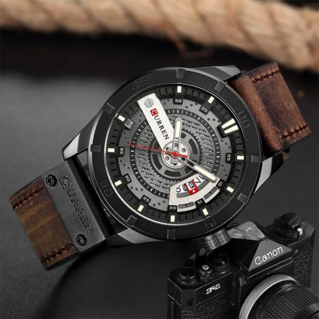 Top Luxury Brand CURREN Fashion Casual Watches Men Quartz Date Clock Male Leather Strap Sports Watch Men's Military Wrist Watch