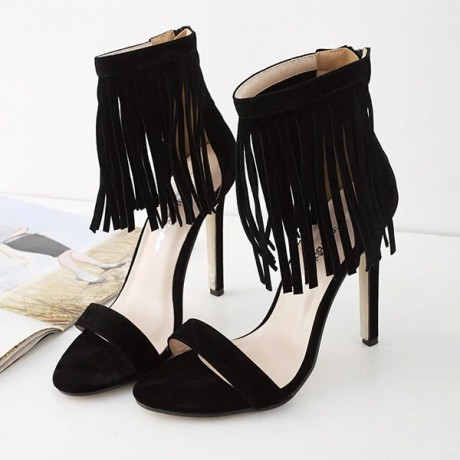 2020 Meilikelin Fashion sexy female tassel super high-heeled sandals