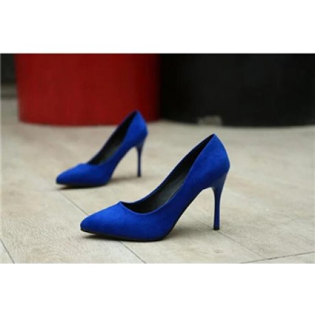 2017 New Womens High Heels Faux Suede Womens Pumps