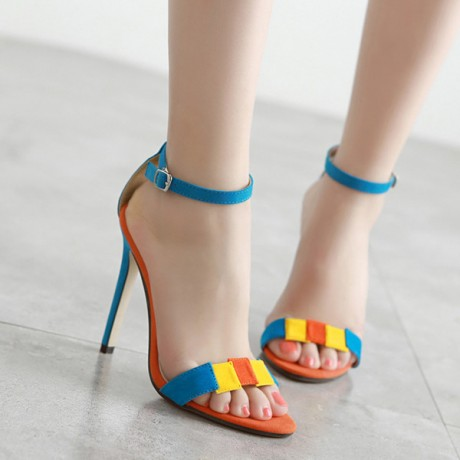 2020 Meilikelin Star suede fight color word with simple fine high heels