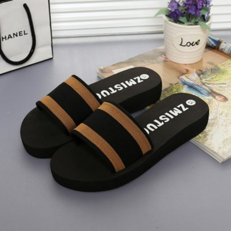 2019 new flip flops with thick bottom slope slip female muffin sandals Rocket Dog Beach slippers wholesale a drag XS054